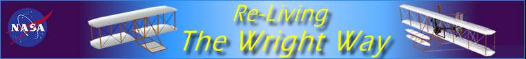 NASA -- Re-Living the Wright Way, images of Wright kite and aircraft